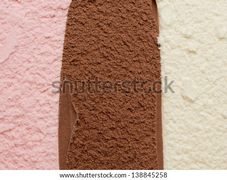 Neapolitan Ice Cream - stock photo