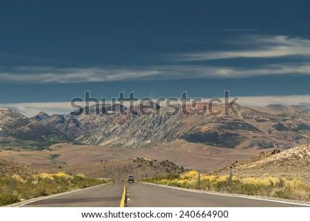 near Mono Lake, Traveling California,  USA - stock photo