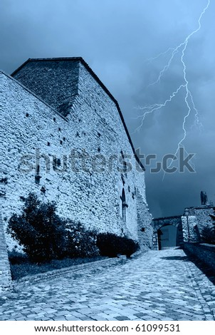 near the gate of the fortress - stock photo