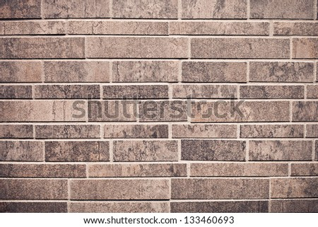 Neat modern brick wall as a detailed background