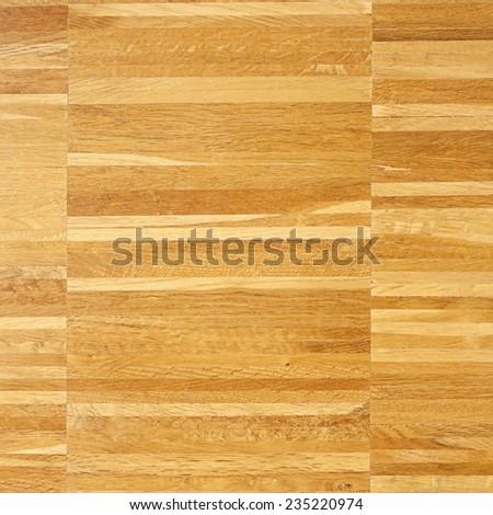 Neat parquet flooring. Square sample - stock photo