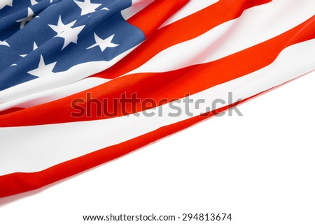 Neat US flag with place for your text - stock photo