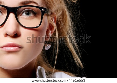 neautiful young student on white - stock photo