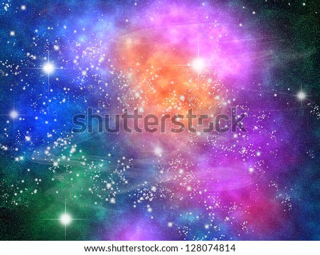 nebula - stock photo