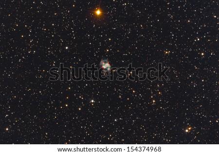 Nebula in Perseus constellation - stock photo