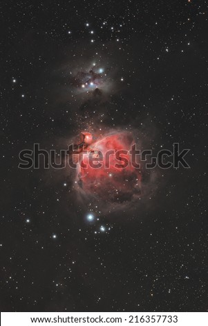 Nebula in the Milky Way as seen through a telescope.