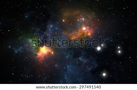 Nebula is a place where new stars are born - stock photo