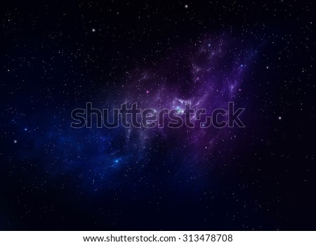 nebulae, space background - stock photo