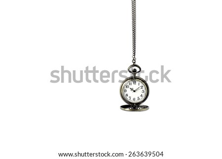 Neck hanging on white background - stock photo
