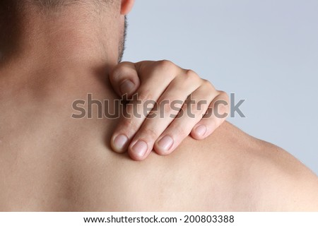 Neck pain Acute pain in a neck at the young man.