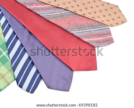 Neck Tie Array ( Business Fashion Concept ) - stock photo