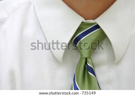 Neck Tie Close Up