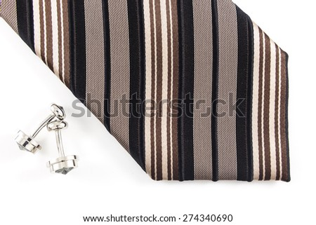 Neck tie on the white background