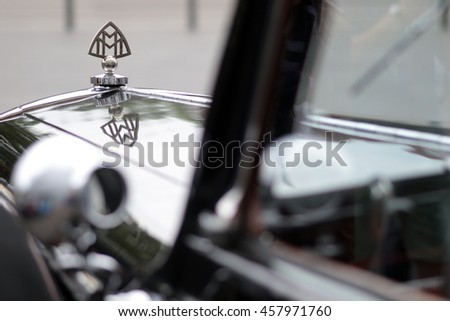 NECKARSULM - GERMANY, JULY 23: Maybach Zeppelin car from 1938 during Heidelberg Classic rallye in Neckarsulm on July 23, 2016