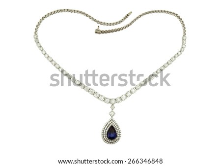 Necklace isoated on a white background - stock photo
