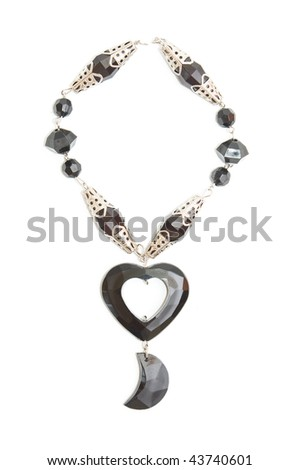 Necklace on white background