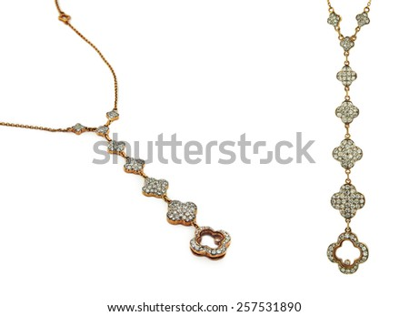 Necklace (Pendant) isolated on a white background
