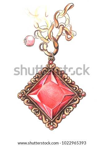 topic dragon design ideas necklaces hot necklace nice red clipart crystal long