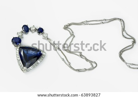 Necklace with a topaz - stock photo