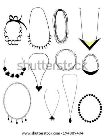Necklaces set - stock photo