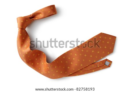 necktie isolated white background - stock photo