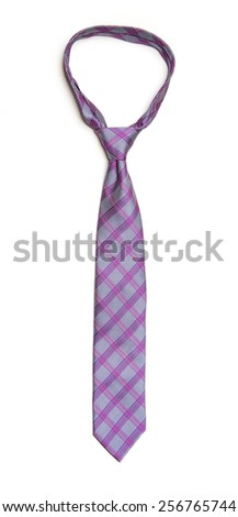 Necktie on White - stock photo