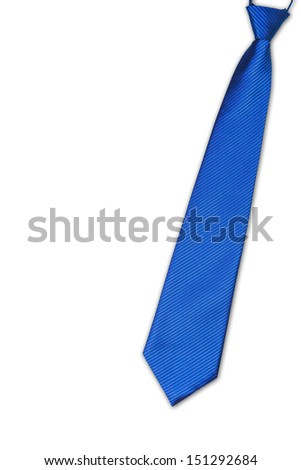 Necktie on white background with clipping path - stock photo