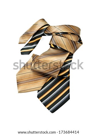 Neckties isolated on white background - stock photo
