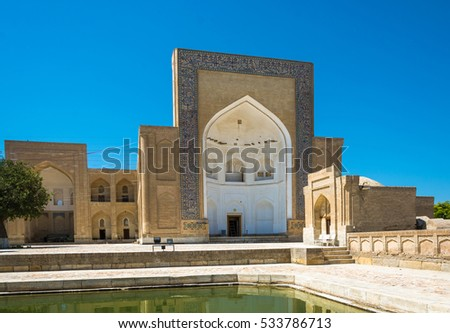 "Necropolis Chor-Bakr, or ""city of the dead"" on a Sunny summer day in Bukhara."
