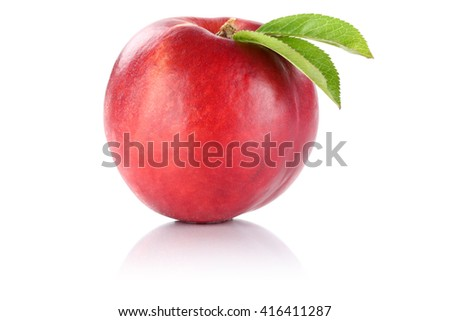 Nectarine fruit isolated on a white background
