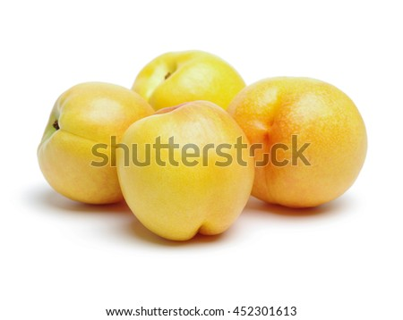 Nectarine fruit on white background