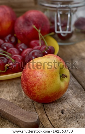 nectarines - stock photo