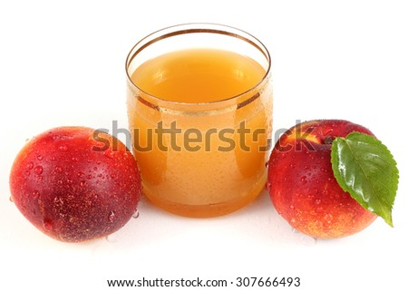 Nectarines and juice