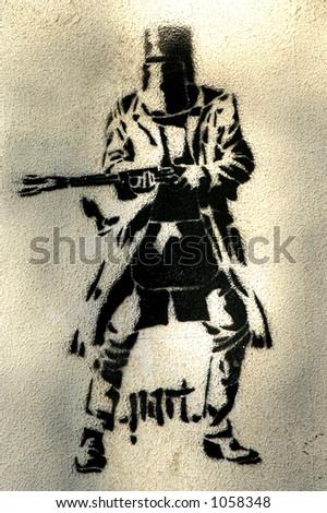 Ned Kelly Street Art - stock photo