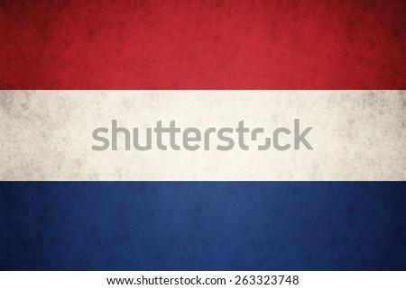 Nederland flag on concrete textured background - stock photo