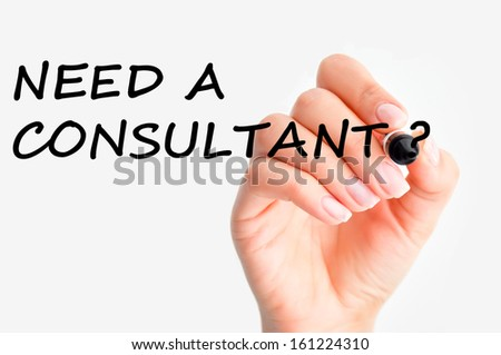 Need a consultant? - stock photo