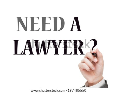 Need a lawyer? - stock photo