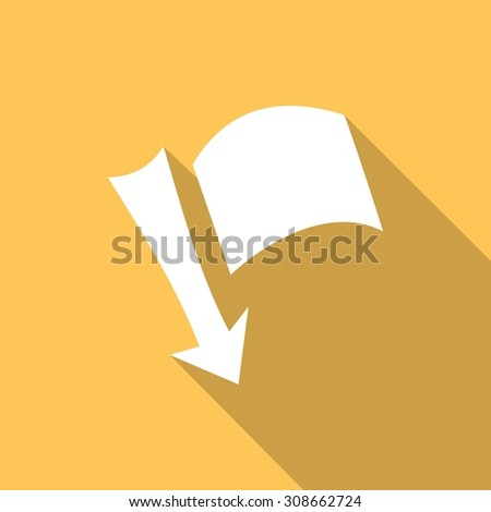needle arrow with a flag with a long shadow - stock photo