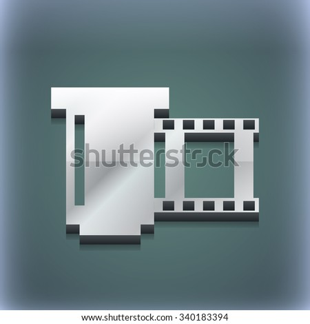 negative films icon symbol. 3D style. Trendy, modern design with space for your text illustration. Raster version - stock photo