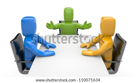 Negotiations - stock photo