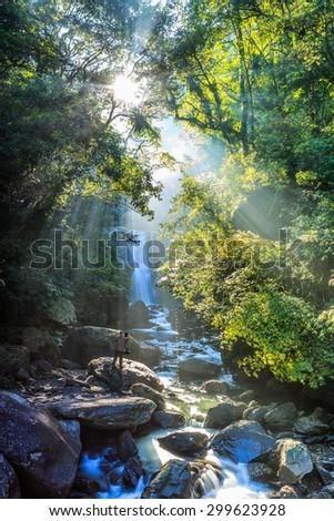 Neidong waterfalls - stock photo