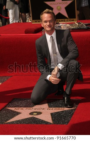 Neil Patrick Harris at trhe Neil Patrick Harris Hollywood Walk of Fame Star Ceremony, Hollywood, CA. 09-15-11 - stock photo