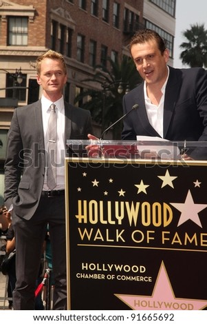 Neil Patrick Harris, Jason Segal at trhe Neil Patrick Harris Hollywood Walk of Fame Star Ceremony, Hollywood, CA. 09-15-11 - stock photo