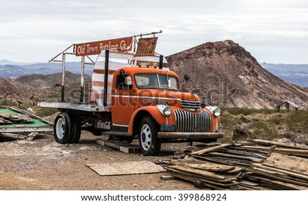 NELSON , USA - JUNE 10 : Old rusty truck in Nelson Nevada ghost town on June 10 ,2015