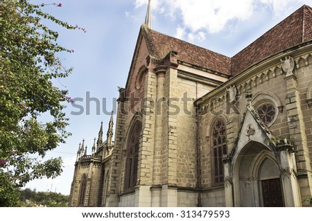 Neo-Gothic Architecture Building - Side Church St. Peter of Alcantara - Petropolis