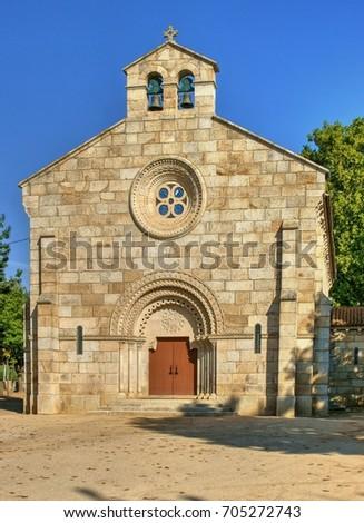 Neo-romanesque church of Nossa Senhora da Conceicao, Vidago, Portugal