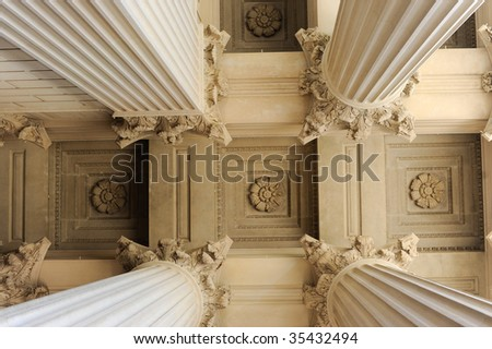 Neoclassical Columns - stock photo