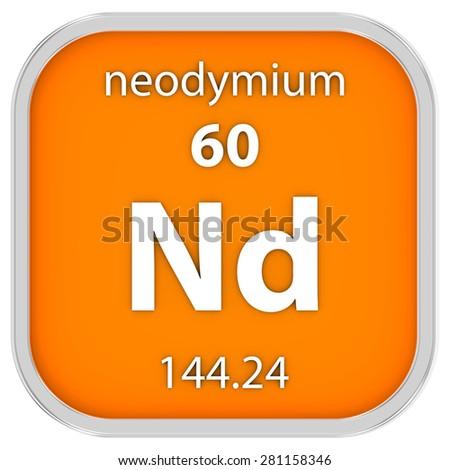 Neodymium Material On Periodic Table Part Stock Illustration