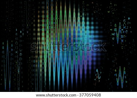 Neon abstract lines design on dark background
