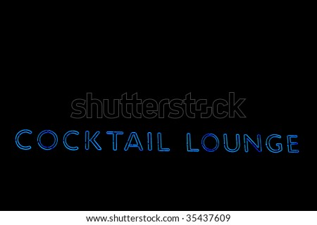 Neon cocktail lounge sign - stock photo